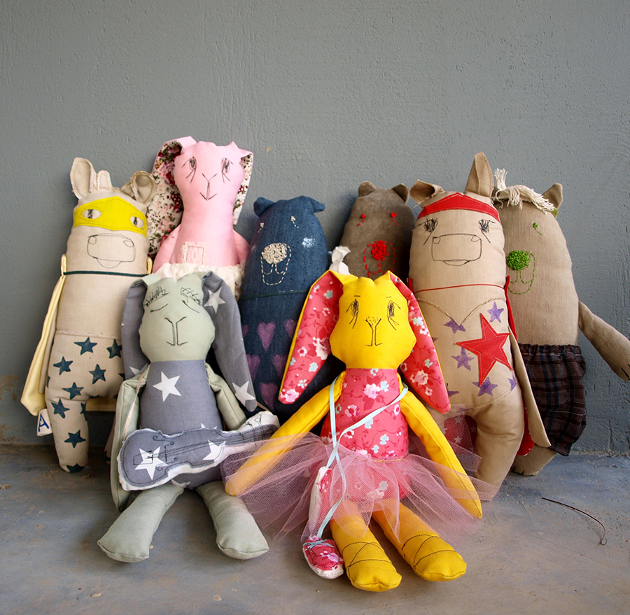 abracadabra-textile-dolls-animals-bunnies-bears-cows