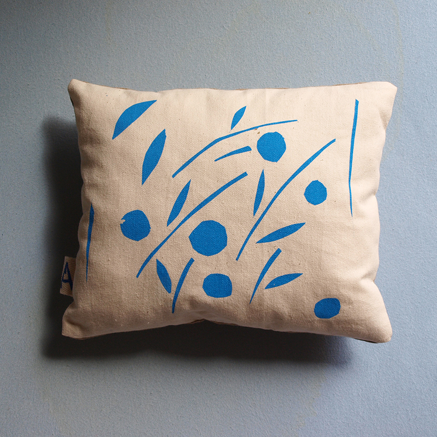 blue-olive-leaves-screen-print-pillow-interiors-home-decor