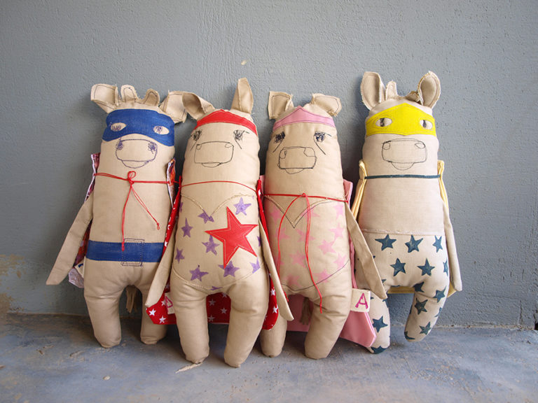 cows-fabric-soft-toy-super-hero-blue-purple-pink-yellow
