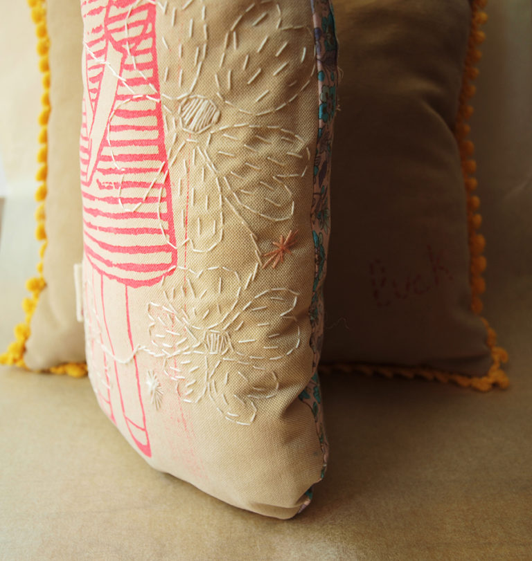 girl-screnn-print-fuchsia-doll-pillow-white-floss-embroidery
