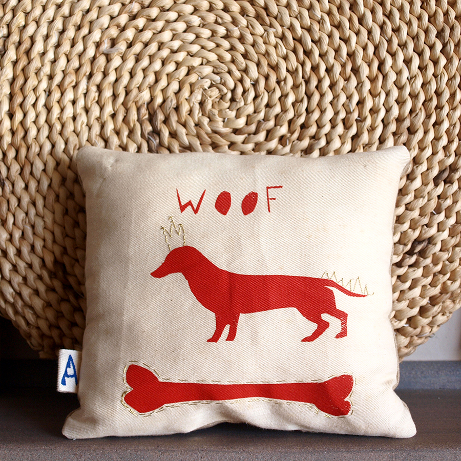 red-hound-dog-bone-woof-living-room-deco-pillow