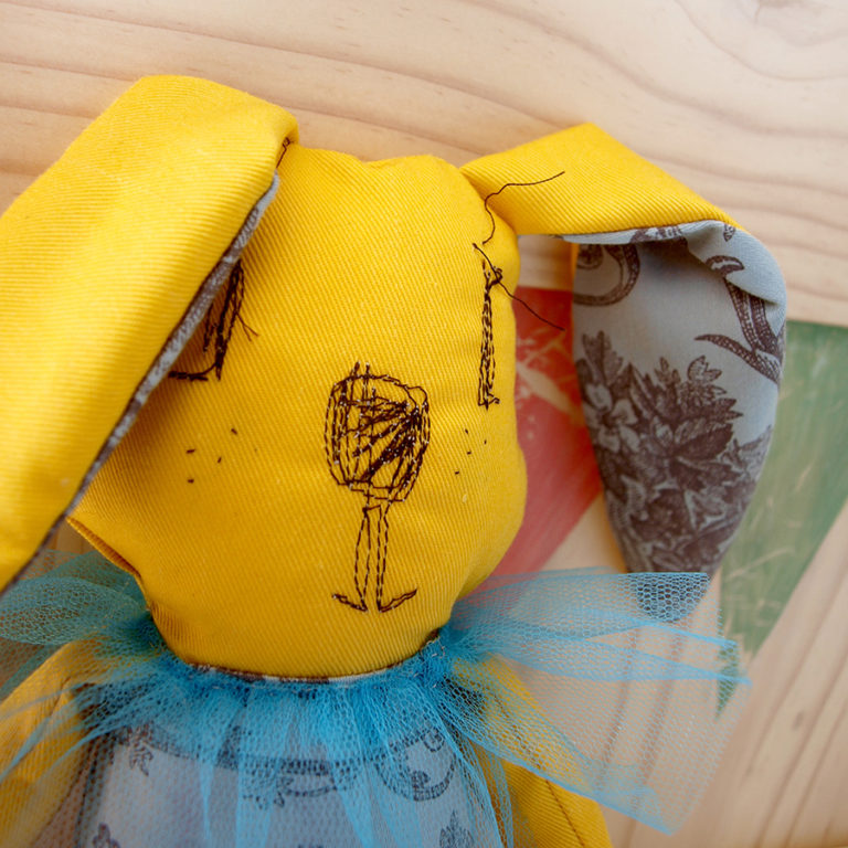 stuffed-animal-plush-yellow-rabbit-nursery-decor