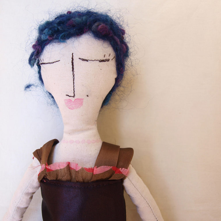 textile-personal-rag-doll-blue-wool-hair-baby-girl