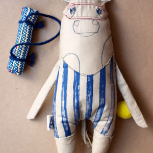 boy-doll-bather-swimmer-stripped-bathing-suit-summer-towel